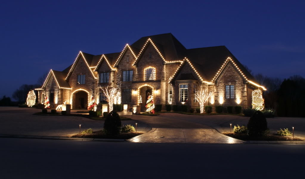 outdoor christmas light installation home outdoor holiday lighting light installers lake st louis mo mm landscape